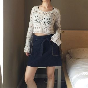 Tommy Hilfiger Tie Front Skirt.-T2.